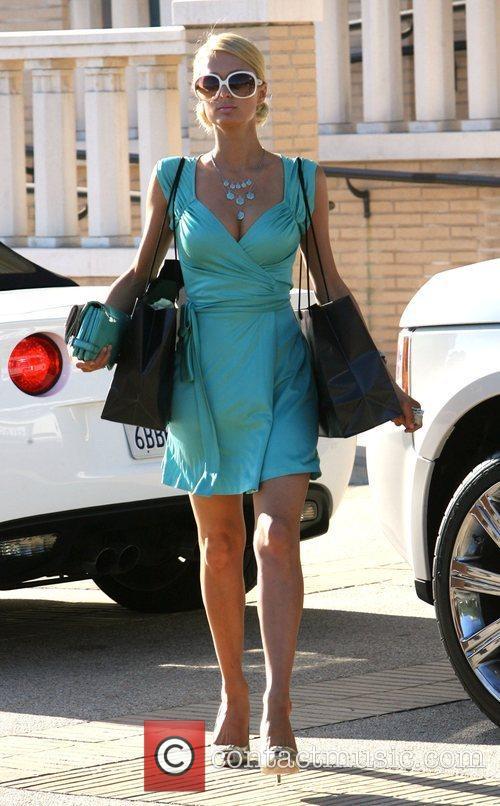 Paris Hilton shopping at Barneys New York in...