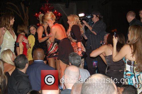 Paris Hilton dancing inside Tao Nightclub whilst filming...