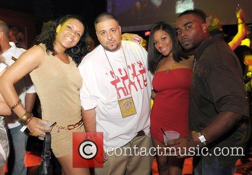 DJ Kahled and fans at Parkwest Nightclub Miami,...