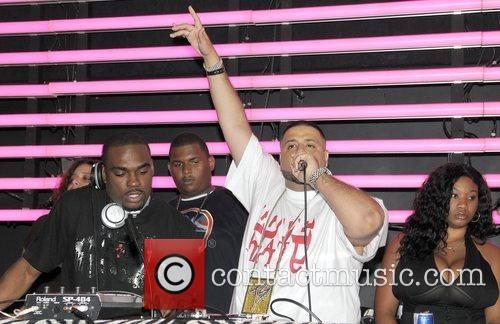 DJ Stevie J and DJ Kahled playing at...