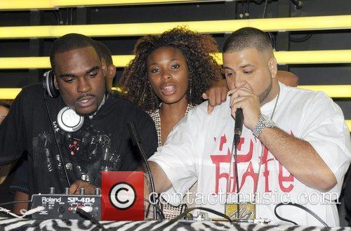 DJ Stevie J, K-Foxx and DJ Kahled playing...