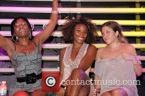Guest, K-Foxx and Guest at Parkwest Nightclub Miami,...