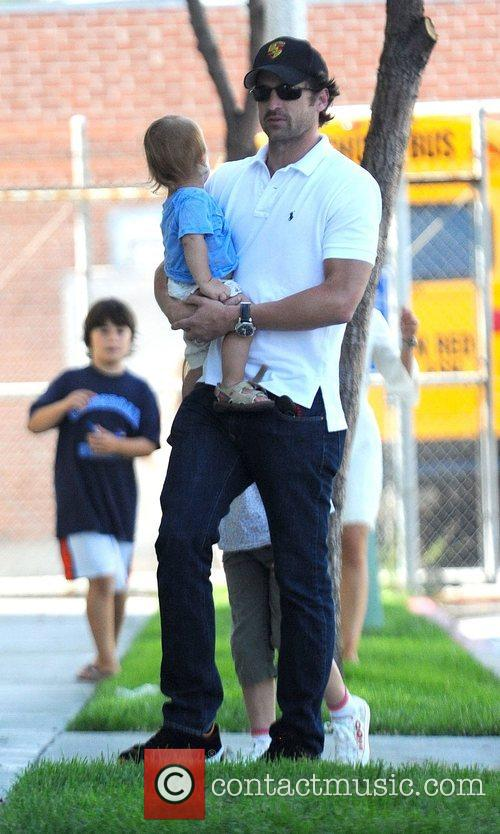 Patrick Dempsey out and about with his children...