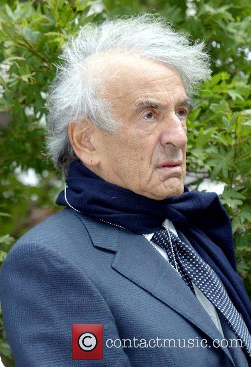 Elie Wiesel attending the 'Ringing of The Peace...
