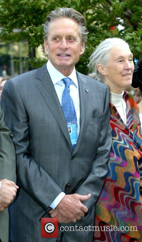 Michael Douglas and Jane Goodall