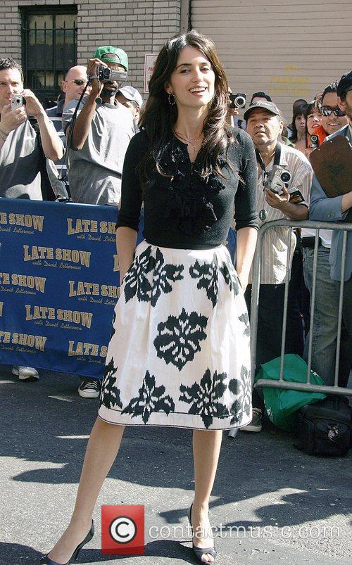 Penelope Cruz and David Letterman 1
