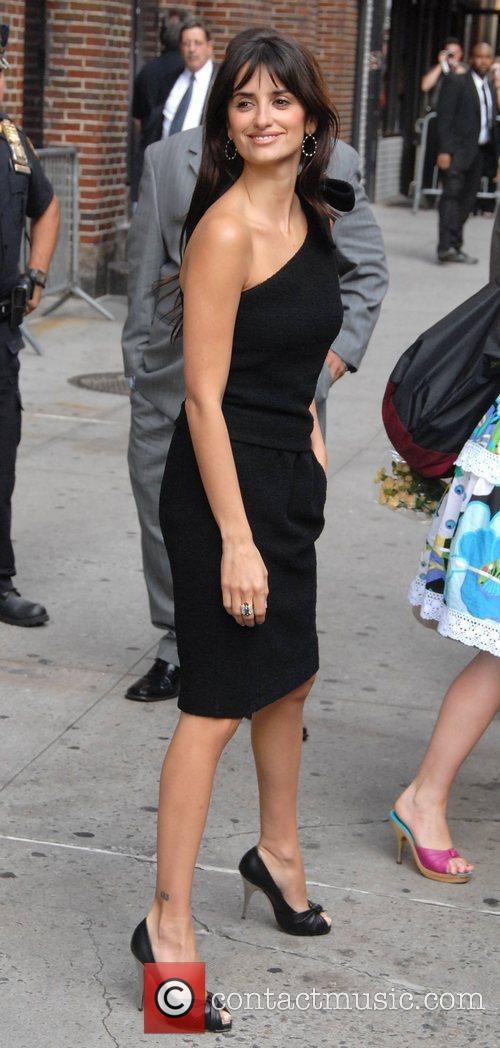 Penelope Cruz and David Letterman 3