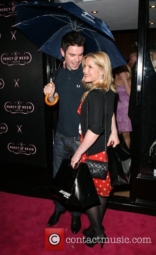 Dave Berry and Heidi Range leaving the Percy...