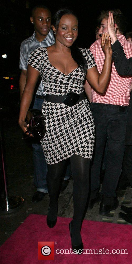 Keisha Buchanan leaving the Percy and Reed Launch...