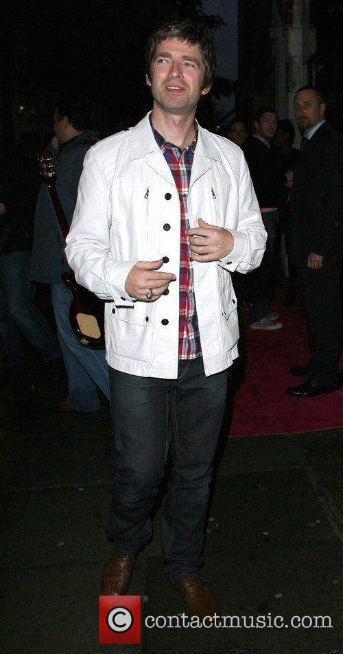 Noel Gallagher leaving the Percy and Reed Launch...