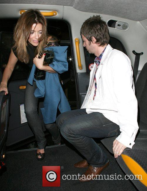 Sara McDonald and Noel Gallagher leaving the Percy...