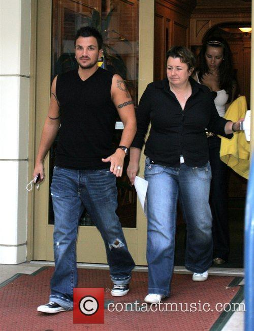 Peter Andre leaves the Roxbury Medical Building without...