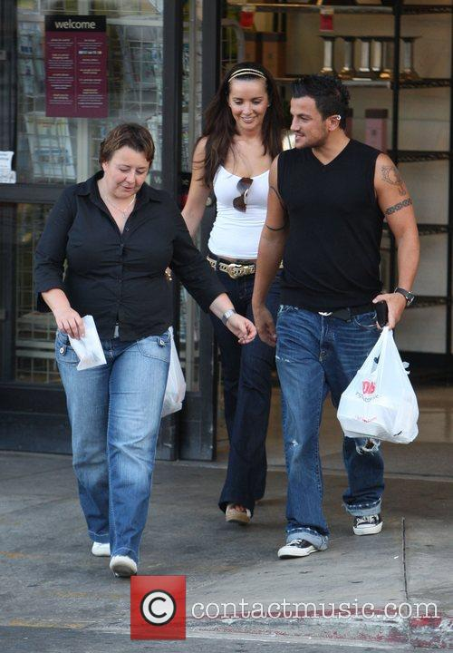 Peter Andre  shops for food at Pavillions...