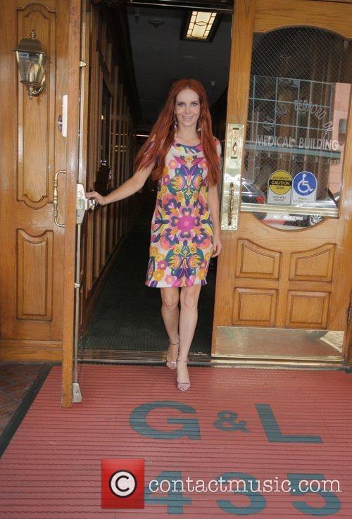 Phoebe Price leaving a medical building during a...