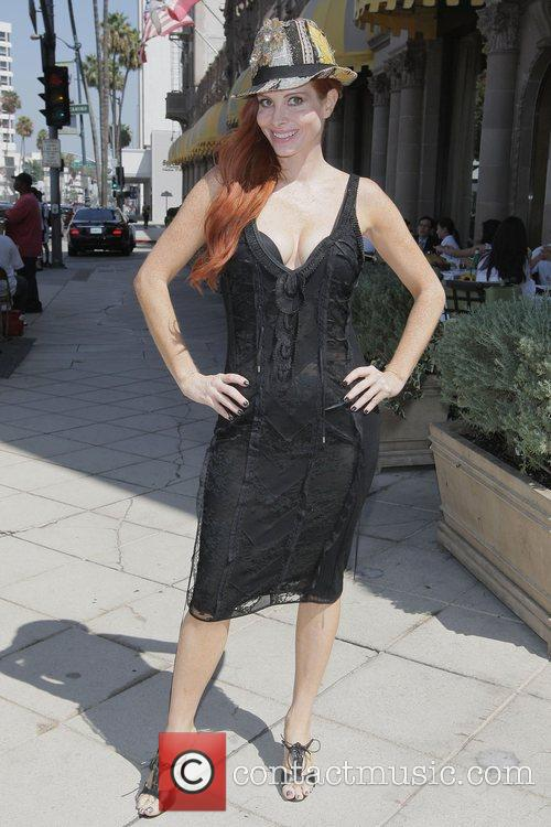 Phoebe Price out and about in Beverly Hills...