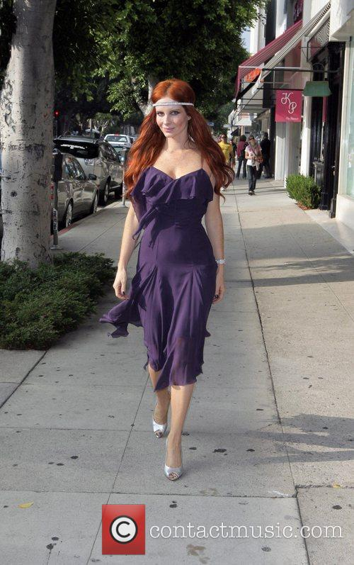 Phoebe Price on Robertson Boulevard where she poses...
