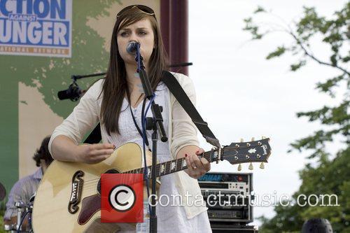 Amy McDonald  performing at Picnic Rocks 2008...