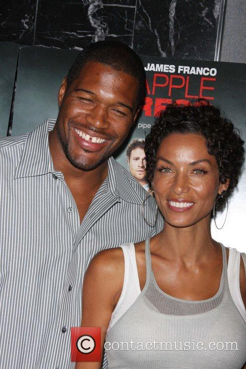 Michael Strahan and Nicole Murphy Three Olives Vodka...