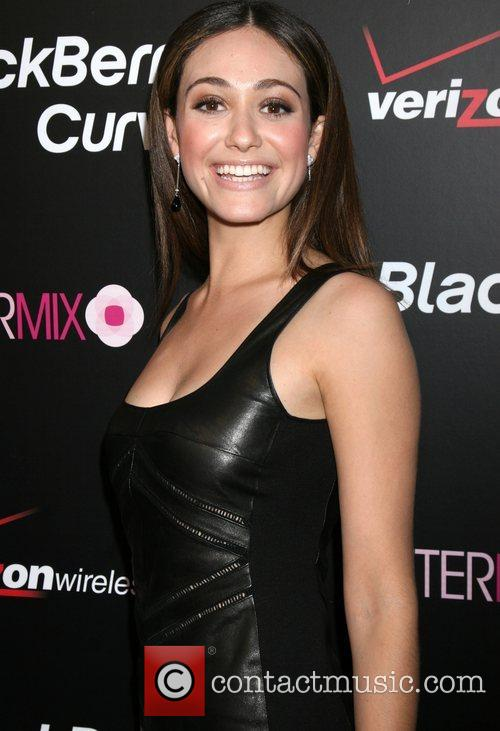 Emmy Rossum Launch party for the Blackberry 8330...
