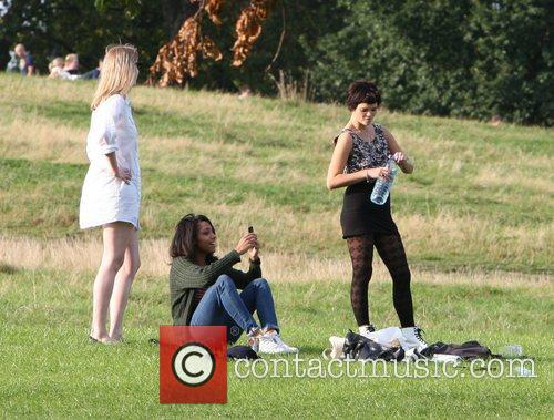 Pixie Geldof and friends enjoying a day out...