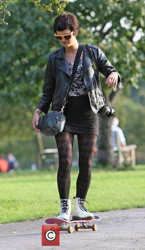 Pixie Geldof enjoying a day out at the...