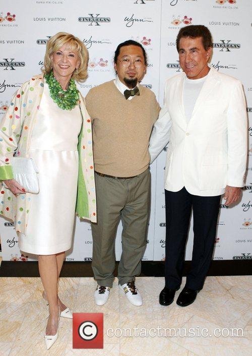 Elaine Wynn, Takashi Murakami and Steve Wynn Screening...
