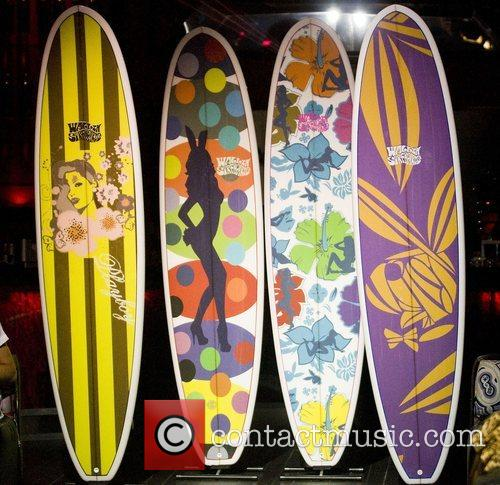 Playboy show off its new surfboards made by...