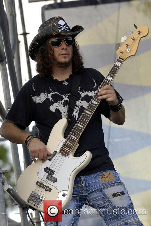 Bassist Tom of Kidd Havoc  performing live...