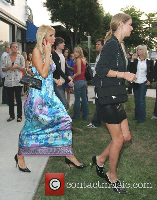 Paris Hilton and Nicky Hilton leaving the Pop...