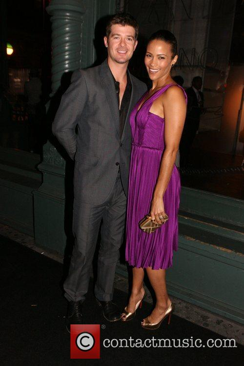 Robin Thicke and Paula Patton Prada presents a...