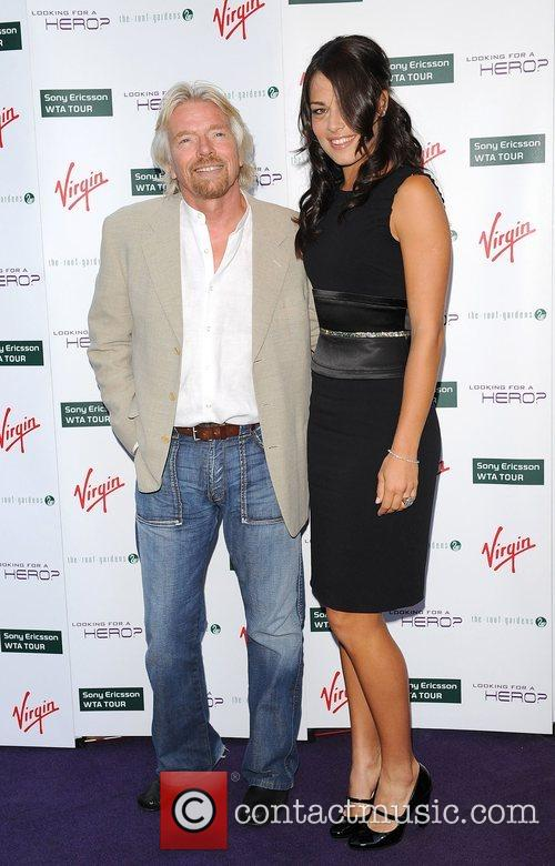 Richard Branson and Ana Ivanovic 1