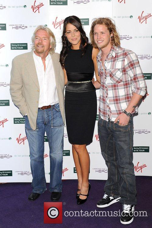 Richard Branson, Ana Ivanovic and Sam Branson 2