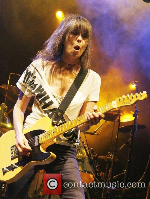 Chrissie Hynde of The Pretenders performing live at...