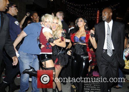 Kimberly Wyatt, Ashley Roberts and Nicole Scherzinger of...