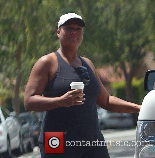 Queen Latifah heads to the Urth Cafe in...