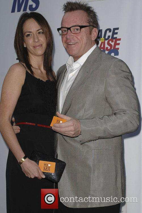 Tom Arnold and Guest The Nancy Davis Foundation's...