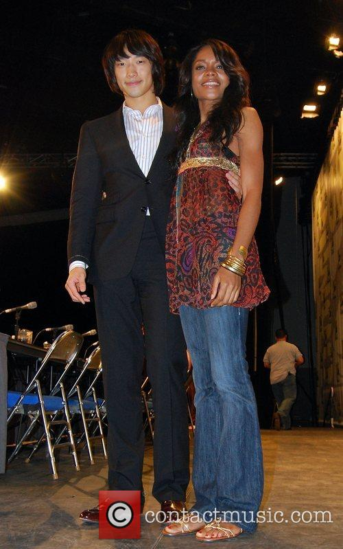 Rain and Naomie Harris promoting his forthcoming movie...