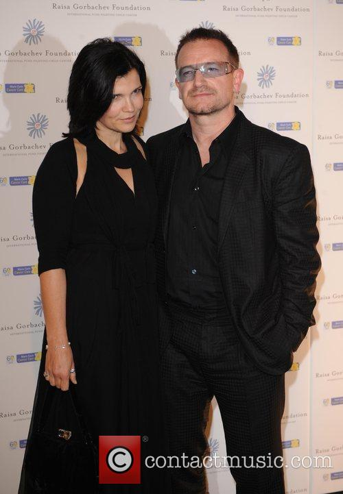 Bono, His Wife Ali Hewson and Hampton Court Palace 11