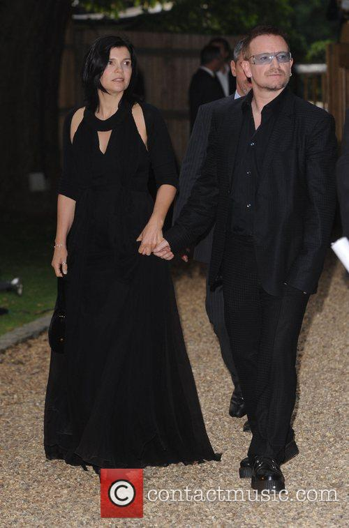 Bono, His Wife Ali Hewson and Hampton Court Palace 1