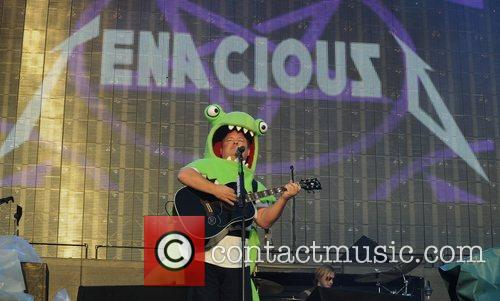 Kyle Gass of Tenacious D Reading Festival 2008...