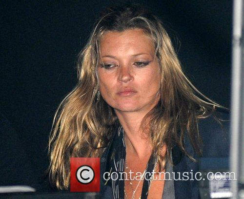 Kate Moss  watching her boyfriend's band 'The...