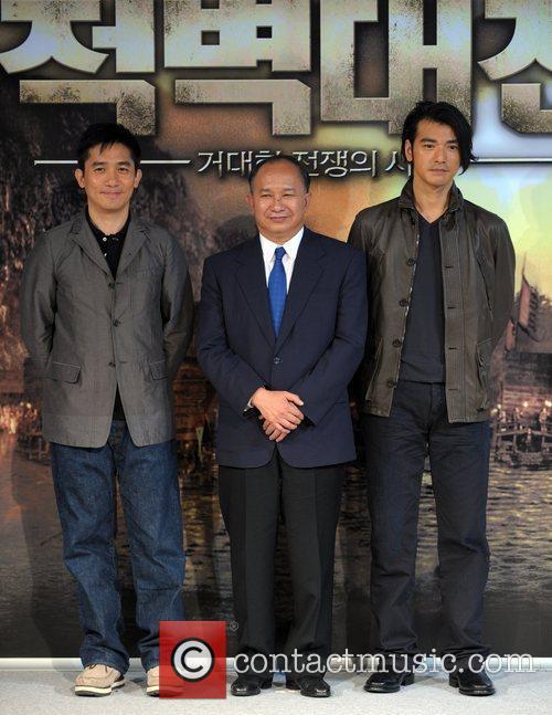 Tony Leung, John Woo and Kaneshiro Takeshi 2