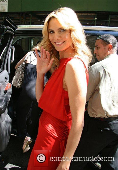 Heidi Klum leaving ABC Studios after appearing on...