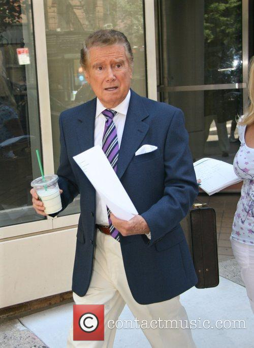 Regis Philbin leaving ABC Studios after appearing on...