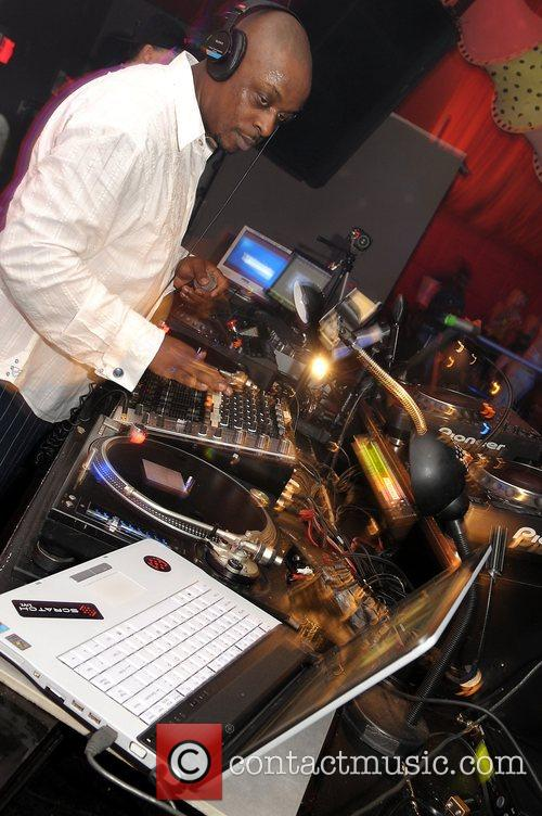 DJ Springeri at the launch of Rohan Marley...