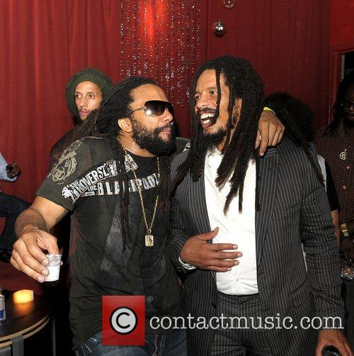 Rohan Marley and Ky-Mani Marley at the launch...