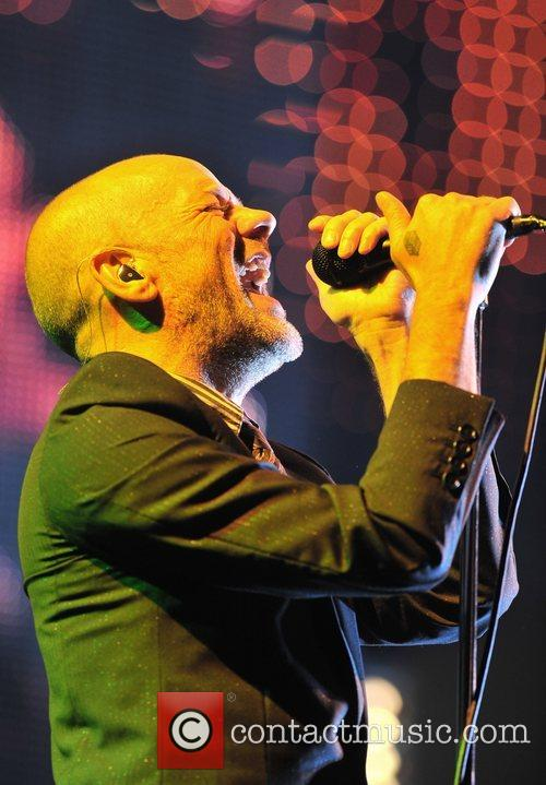Michael Stipe of R.E.M.  performing live at...