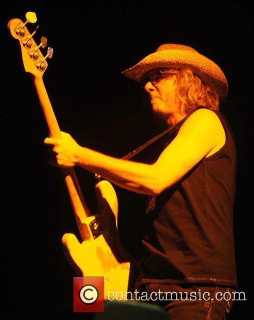 R.E.M.  performing live at Twickenham Stadium London,...