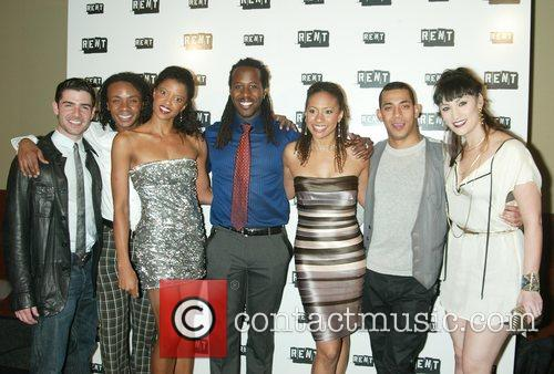 The current cast of Rent The final performance...