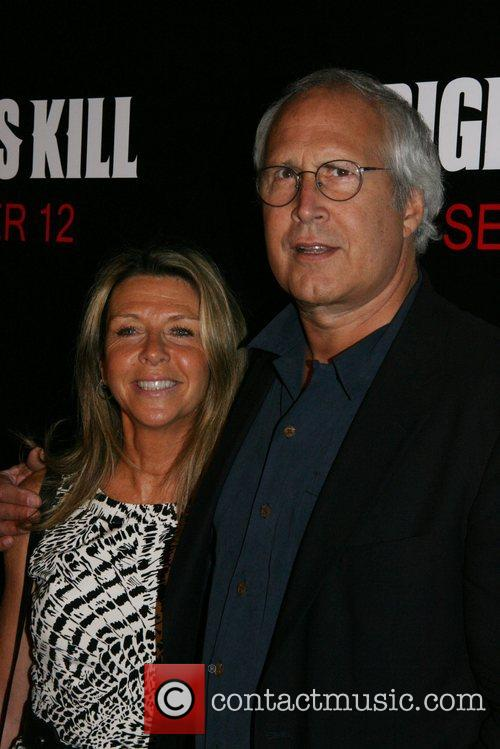 Jayni Luke and Chevy Chase New York Premiere...
